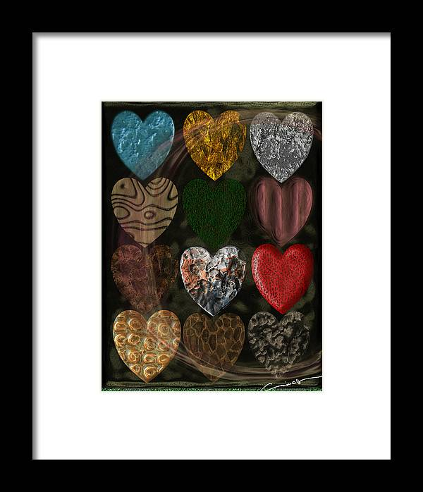 Love Framed Print featuring the digital art Many Types Of Love by Michael Hurwitz