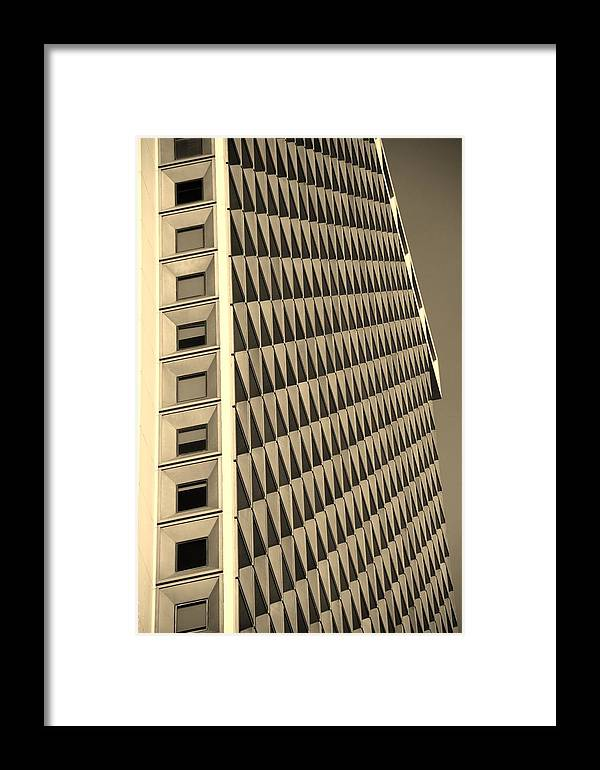 Scenic Framed Print featuring the photograph Many Windows In Sepia by Rob Hans