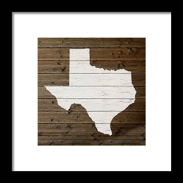 Map Of Texas State Outline White Distressed Paint On Reclaimed Wood ...