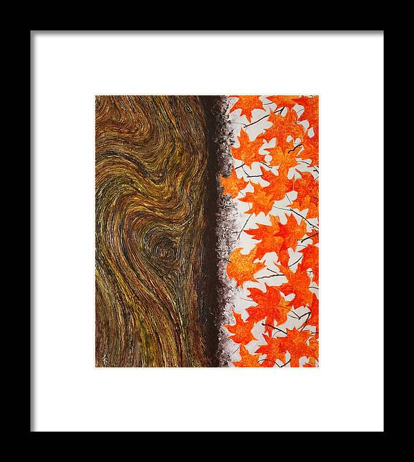 Maple Framed Print featuring the painting Flowers Of The Fall by Kiruba Sekaran