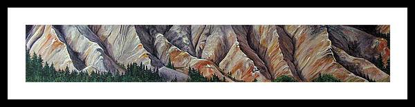 Mountains Framed Print featuring the painting Marble Ridge by Elaine Booth-Kallweit