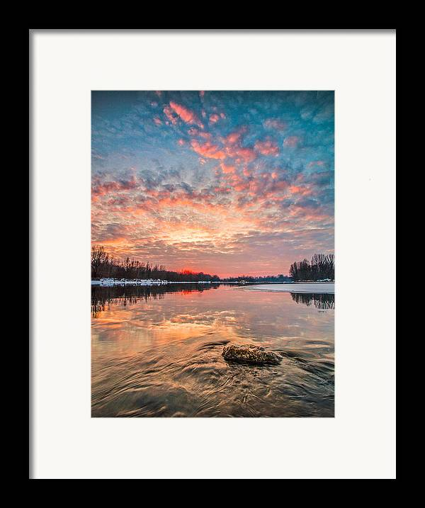 Landscape Framed Print featuring the photograph Marble Sky II by Davorin Mance