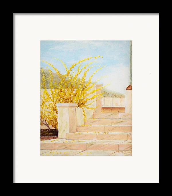 Landscape Framed Print featuring the painting Marble Steps by Scott Alcorn