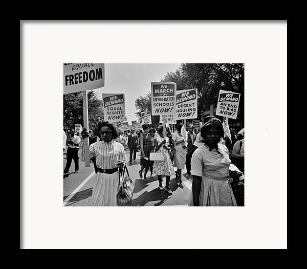 Civil Rights Framed Print featuring the photograph March For Equality by Benjamin Yeager
