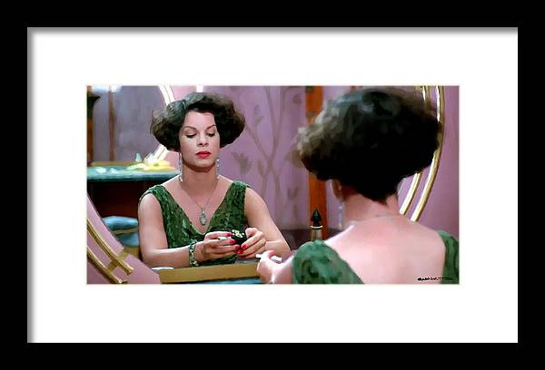 Ethan Coen Movies Framed Print featuring the digital art Marcia Gay Harden as Verna Bernbaum in the film Miller s Crossing by Joel and Ethan Coen by Gabriel T Toro