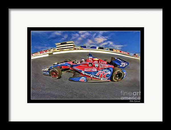 Marco Andretti Framed Print featuring the photograph Marco Andretti by Blake Richards