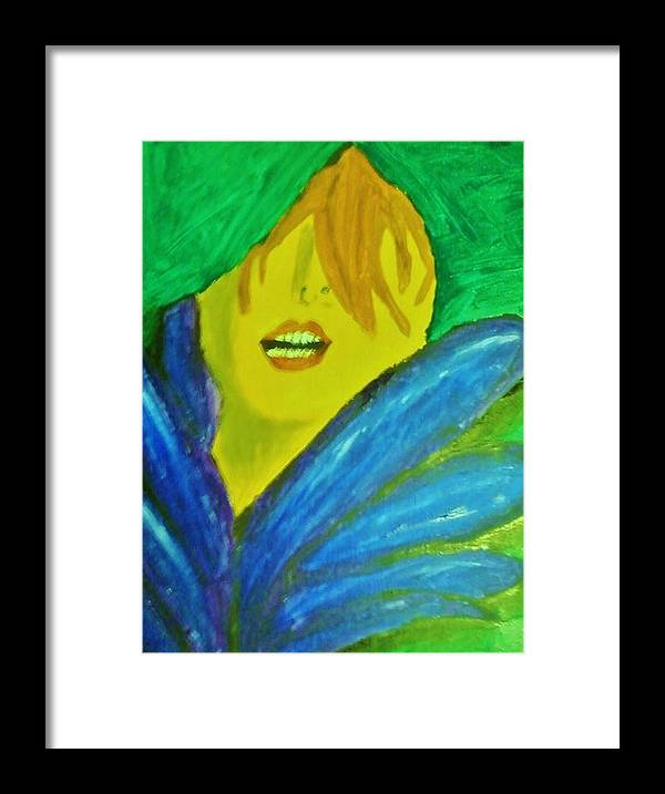 Mardi Gras Framed Print featuring the painting Mardi Gras Blues by Krystyn Lyon