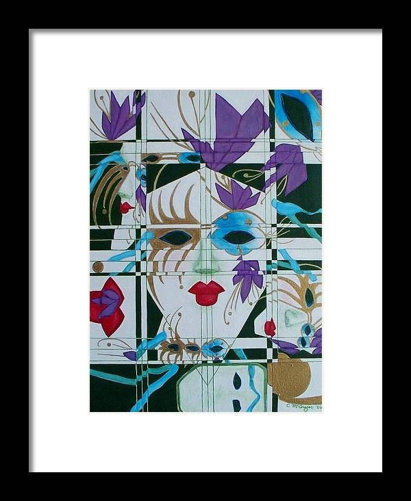 Mardi Gras Framed Print featuring the painting Mardi Gras by Cathy McGregor