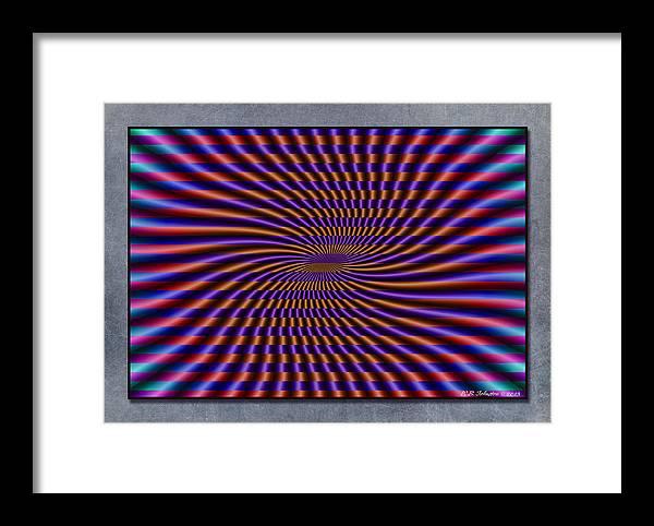 Mardi Gras Framed Print featuring the digital art Mardi Gras Flag by WB Johnston