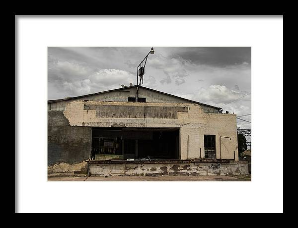 Abandoned Buildings Framed Print featuring the photograph Marfa Ice Plant by Robert Bermea