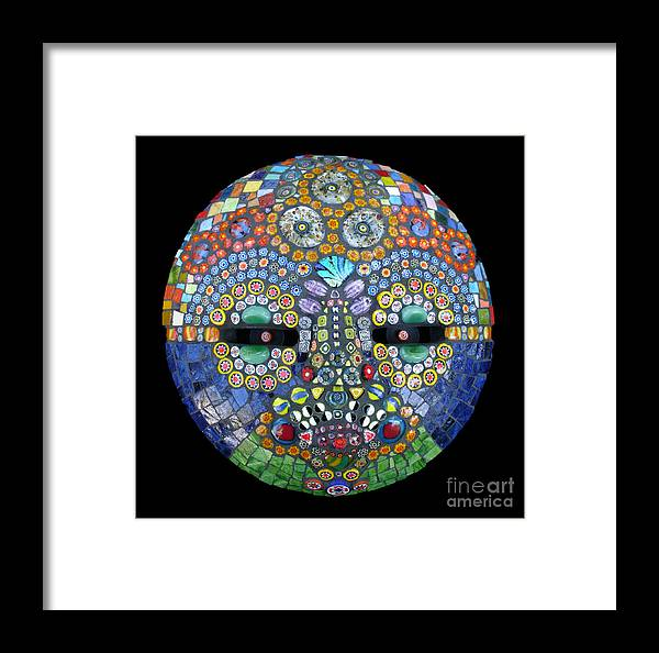 Mosaic Mask Framed Print featuring the photograph Marge by Valerie Fuqua
