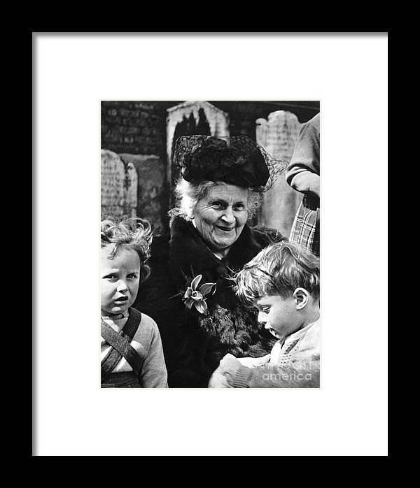 19th Century Framed Print featuring the photograph Maria Montessori by Granger