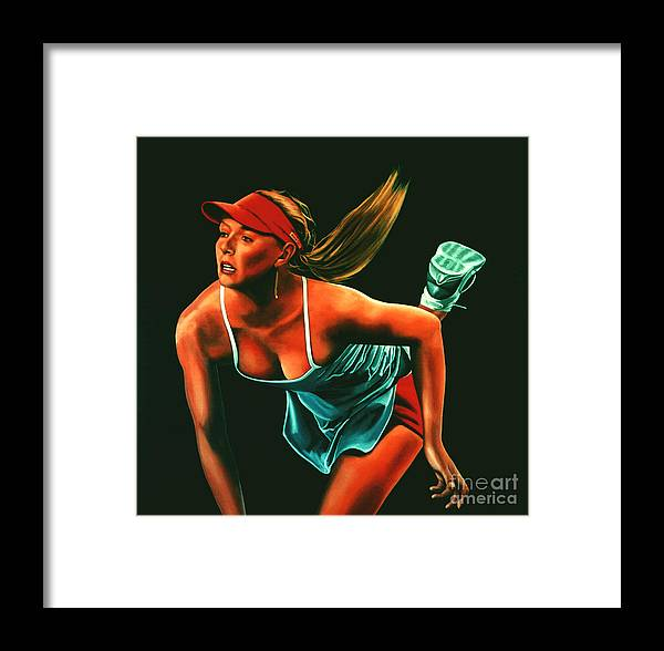 Paul Meijering Framed Print featuring the painting Maria Sharapova by Paul Meijering