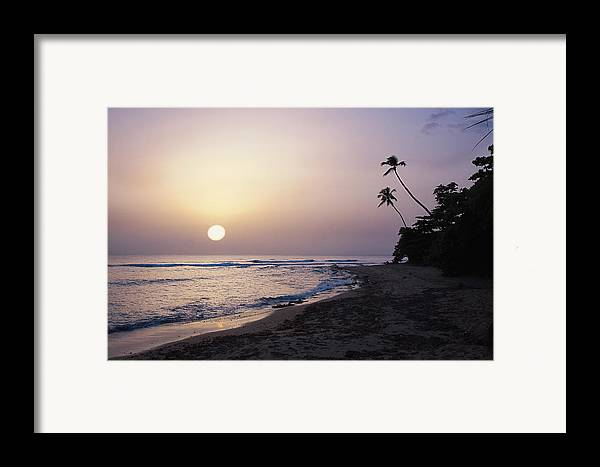 Beach Framed Print featuring the photograph Marias Beach Sunset Rincon Puerto Rico by George Oze