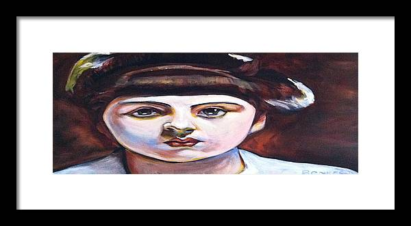 Girl Framed Print featuring the painting Marie-Louis Pailleron by Buffalo Bonker