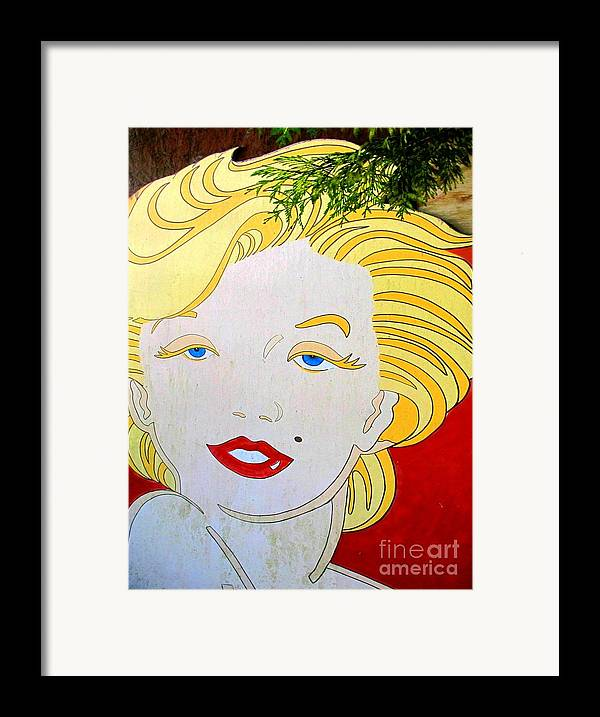 Woman Framed Print featuring the photograph Marilyn by Ethna Gillespie