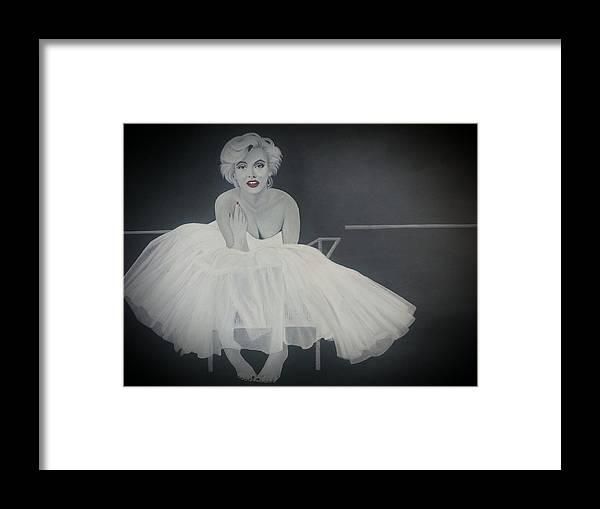 Marilyn Monroe Ballerina Framed Print by Amanda DeVillers