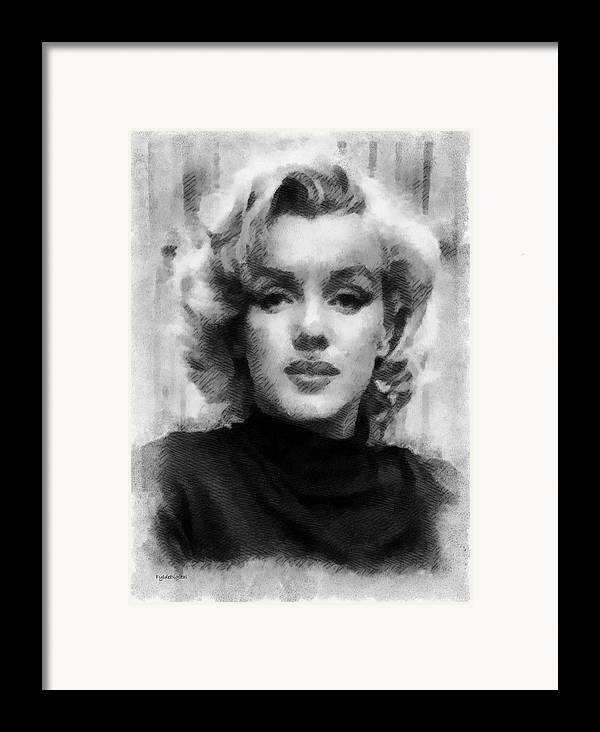 Marilyn Munroe Framed Print featuring the painting Marilyn by Patrick OHare