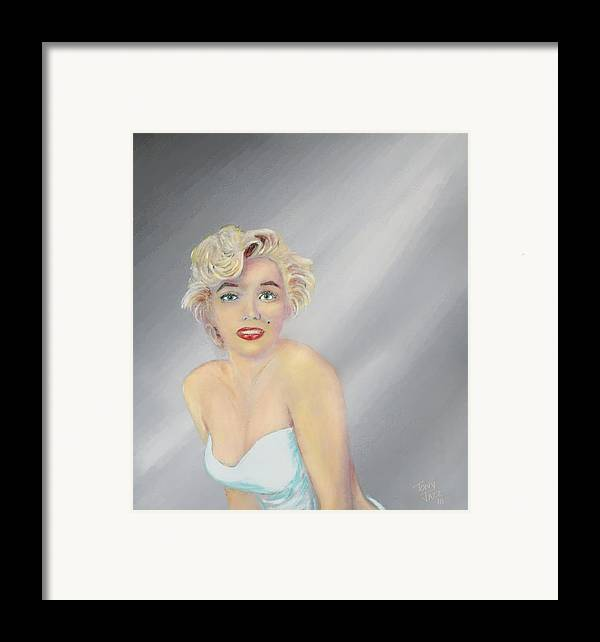 Marilyn Monroe Framed Print featuring the painting Marilyn by Tony Rodriguez