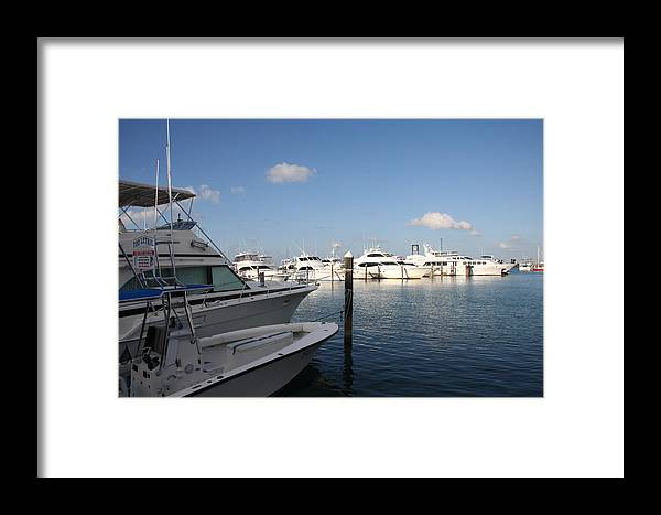 Harbor Framed Print featuring the photograph Marina Key West - Harbored Fun by Christiane Schulze Art And Photography
