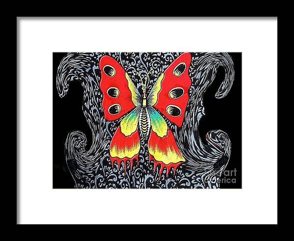 Arte Framed Print featuring the digital art Mariposa 2 by Sonia Morera