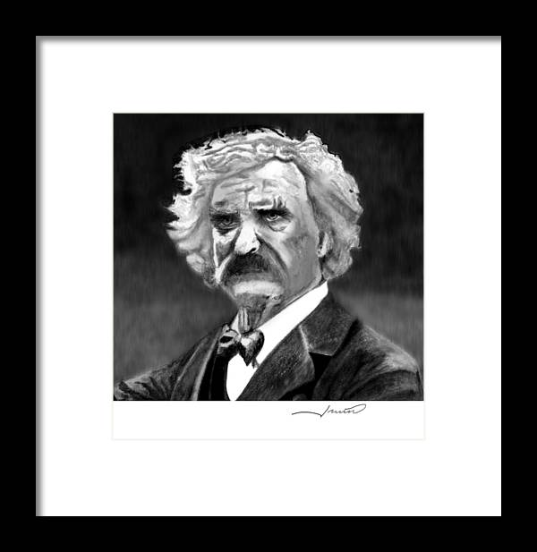 Portrait Framed Print featuring the drawing Mark II by Claude Bill Irwin