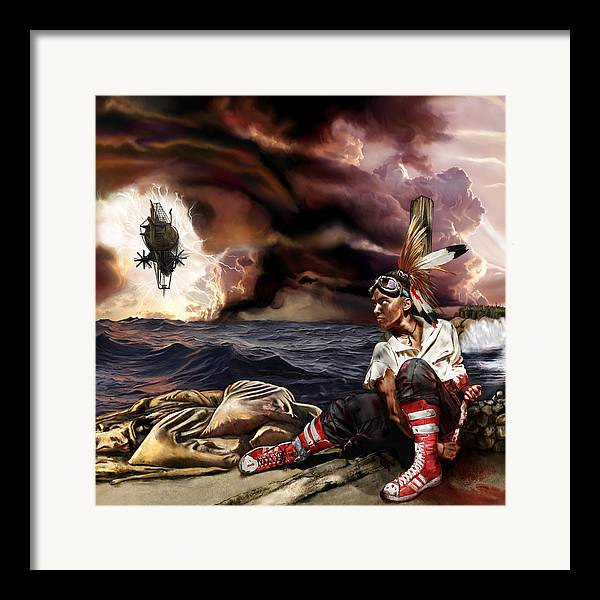 Steampunk Framed Print featuring the mixed media Marooned by Mandem