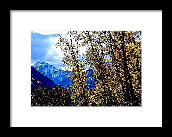 Marron Framed Print featuring the photograph Marron Belles At Fall by Gerald Blaine