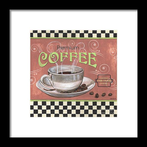 Coffee Framed Print featuring the painting Marsala Coffee 2 by Debbie DeWitt