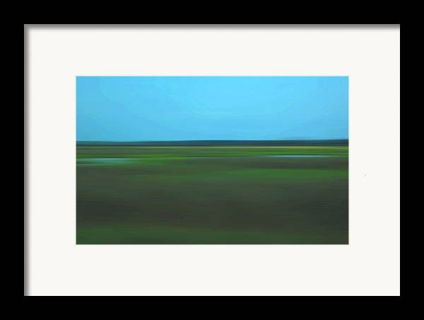 Abstract Framed Print featuring the photograph Marsh Blur by Suzanne Gaff