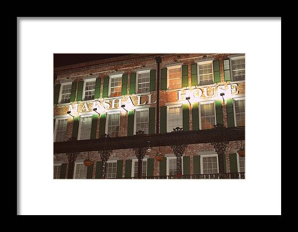 Marshall House Framed Print featuring the photograph Marshall House by Linda Covino