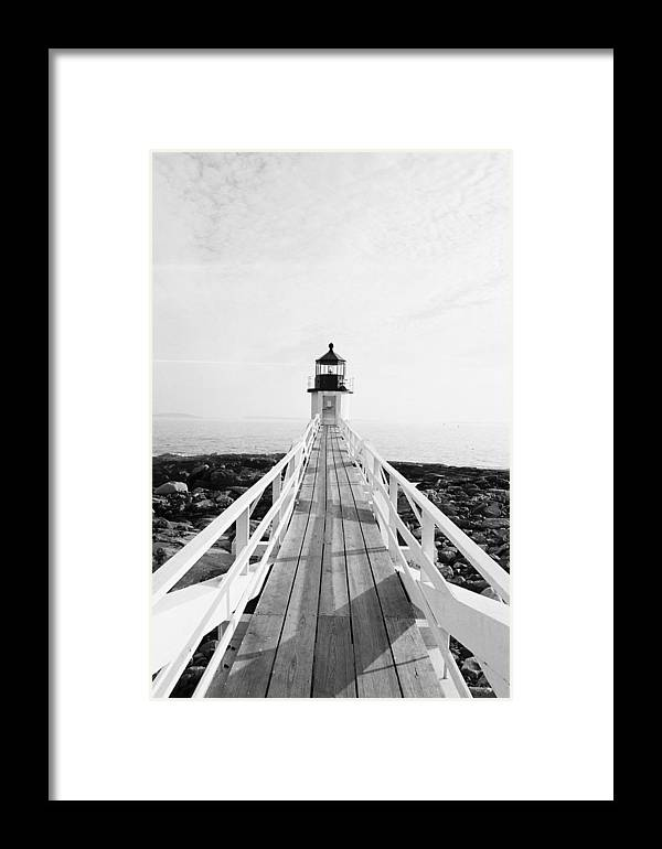 Marshall Point Framed Print featuring the photograph Marshall Point Approach - Black And White by IMH Photog