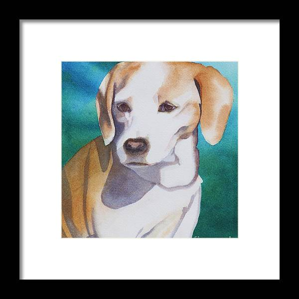 Jack Russell Terrier Framed Print featuring the painting Martha by Amanda Schuster