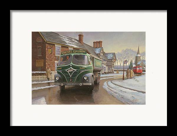 Painting For Sale Framed Print featuring the painting Martin C. Cullimore Tipper. by Mike Jeffries