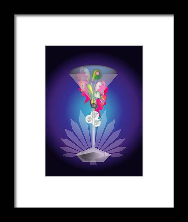 Martini Framed Print featuring the digital art Martini Flower by George Pasini