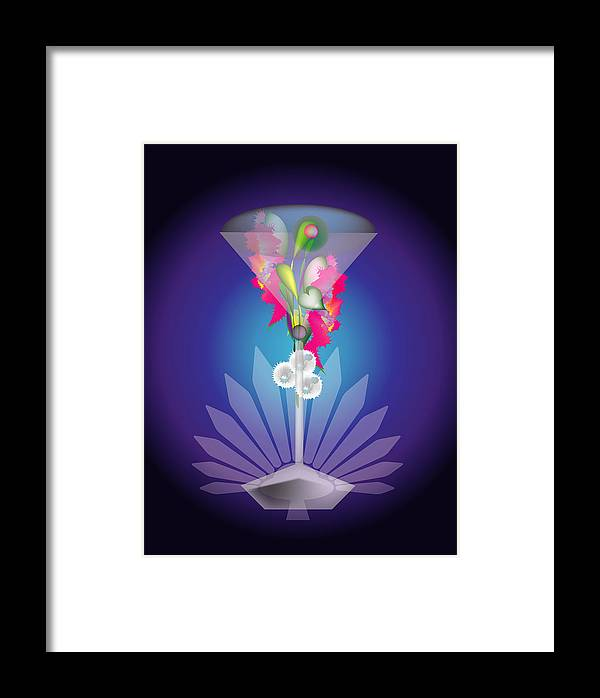 Martini Framed Print featuring the digital art Martini Flower by George Pasini