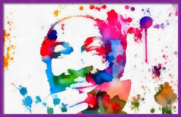 Marvin Gaye Paint Splatter by Dan Sproul