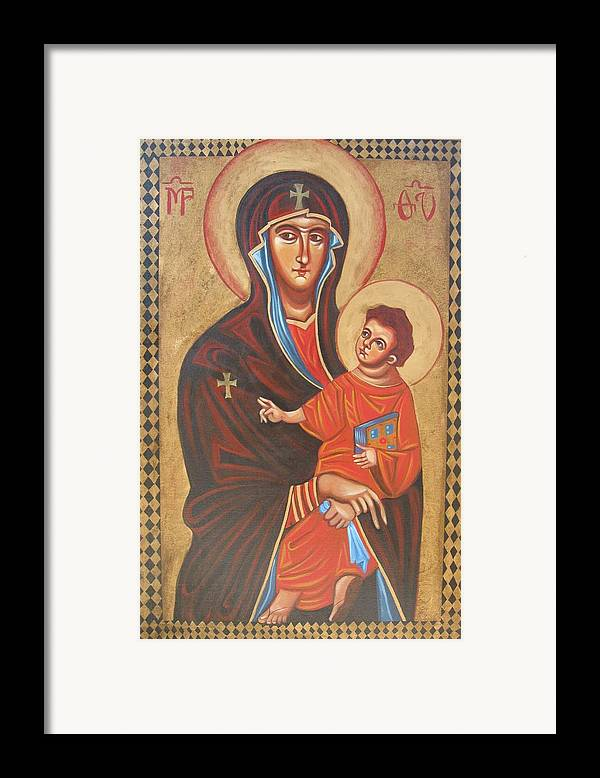 Icon Framed Print featuring the painting Mary Help Of The Romans by Joseph Malham