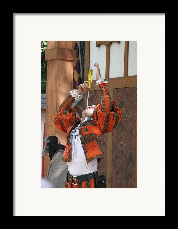 Maryland Framed Print featuring the photograph Maryland Renaissance Festival - Johnny Fox Sword Swallower - 121244 by DC Photographer