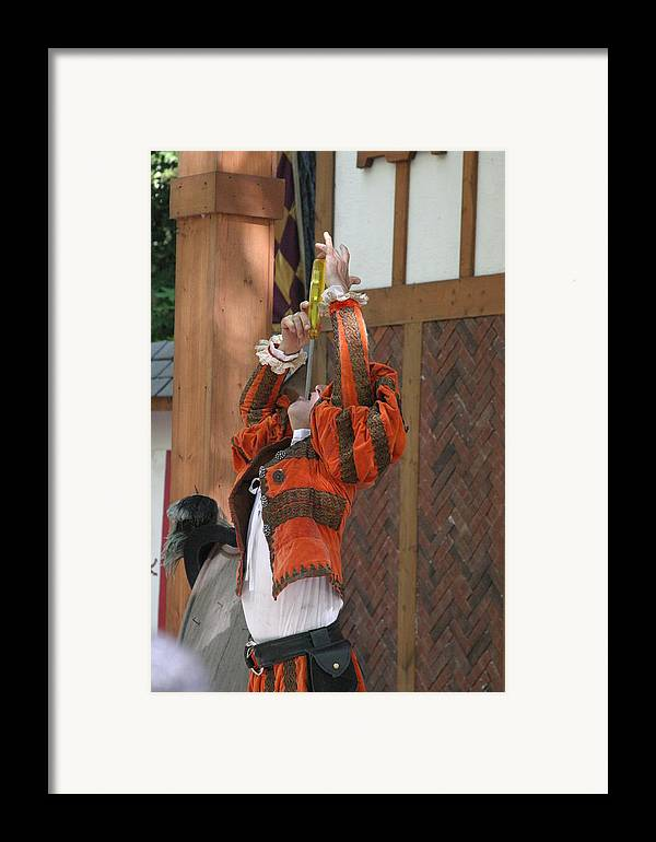 Maryland Framed Print featuring the photograph Maryland Renaissance Festival - Johnny Fox Sword Swallower - 121245 by DC Photographer