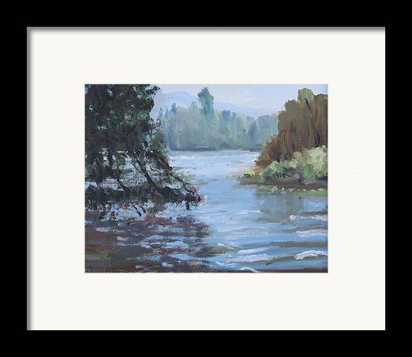 Framed Print featuring the painting Marymoor Park Wa by Raymond Kaler