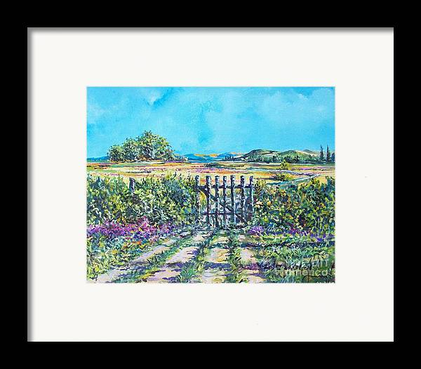 Nature Framed Print featuring the painting Mary's Field by Sinisa Saratlic