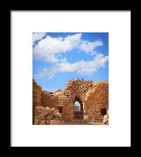 Masada Framed Print featuring the photograph Masada Fortress by Stella Levi