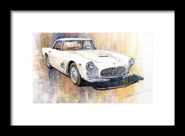 Automotive Framed Print featuring the painting Maserati 3500GT Coupe by Yuriy Shevchuk