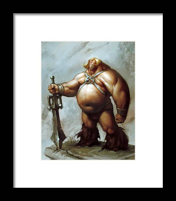 He-man Framed Print featuring the painting Master by Adam Ford