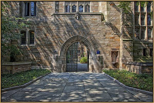Master's House Gateway Trumbull College - Yale University  by Mountain Dreams