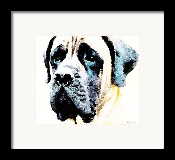 Mastiff Framed Print featuring the painting Mastif Dog Art - Misunderstood by Sharon Cummings