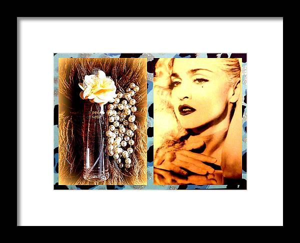 Material Framed Print featuring the photograph Material Girl by The Creative Minds Art and Photography