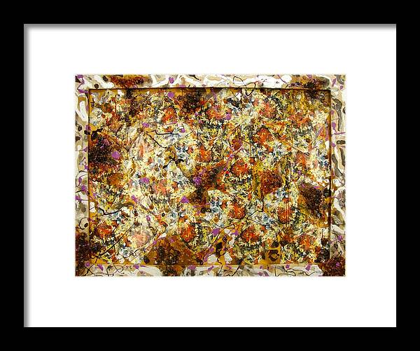 Framed Print featuring the painting Materias assembled by Biagio Civale