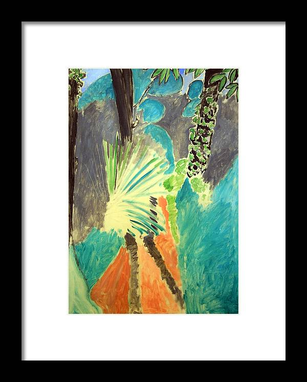 Palm Leaf Framed Print featuring the photograph Matisse's Palm Leaf In Tangier by Cora Wandel